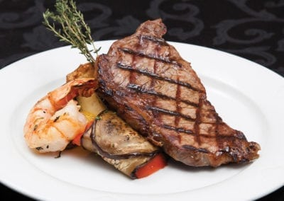 Gardens Menu - Sirloin & Shrimp