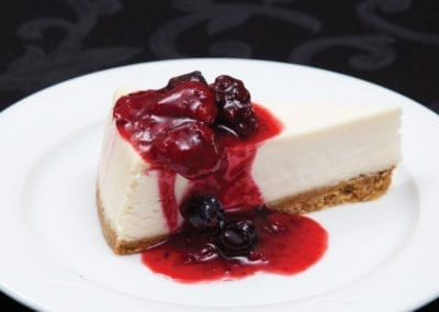 Gardens Menu - Cheesecake