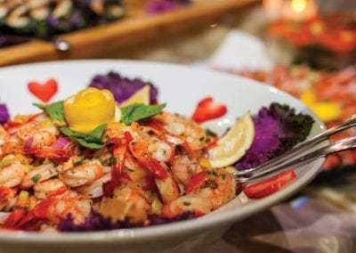 Gardens Menu - Supreme Antipasto Bar Shrimp