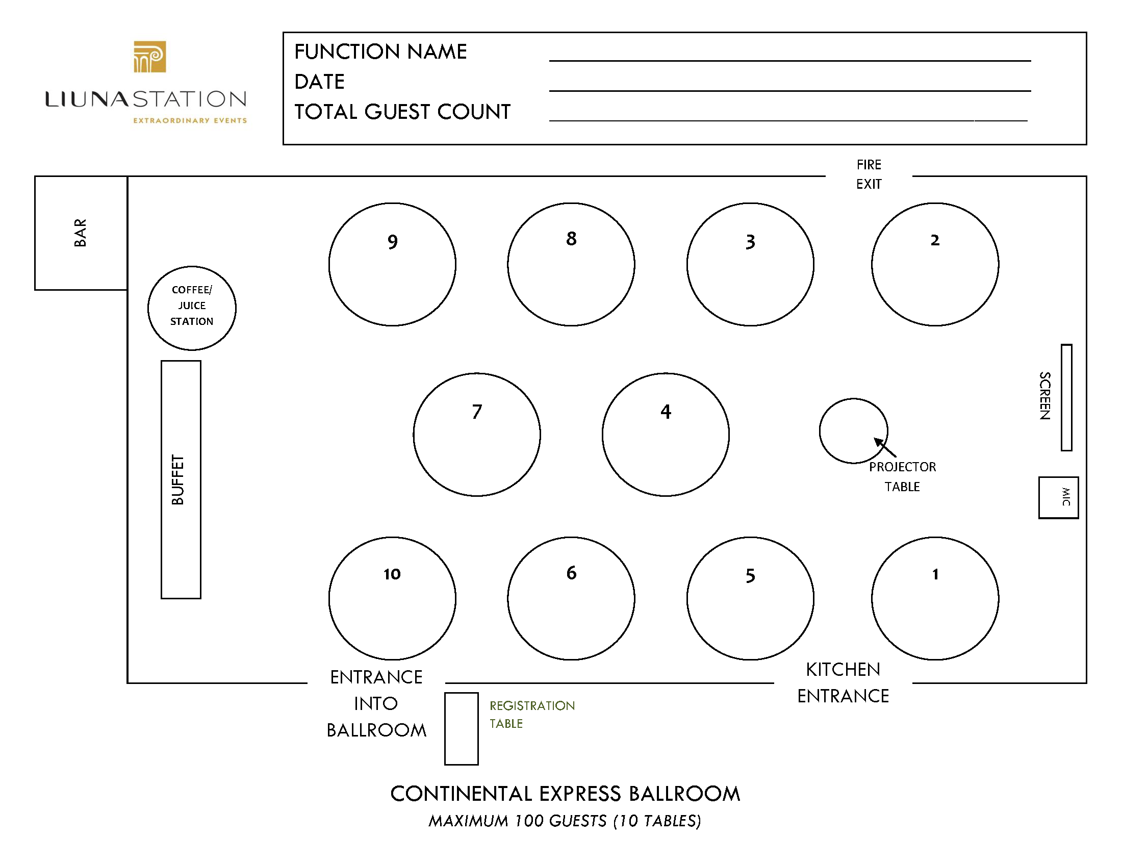 Station Floorplans - Continental Ballroom